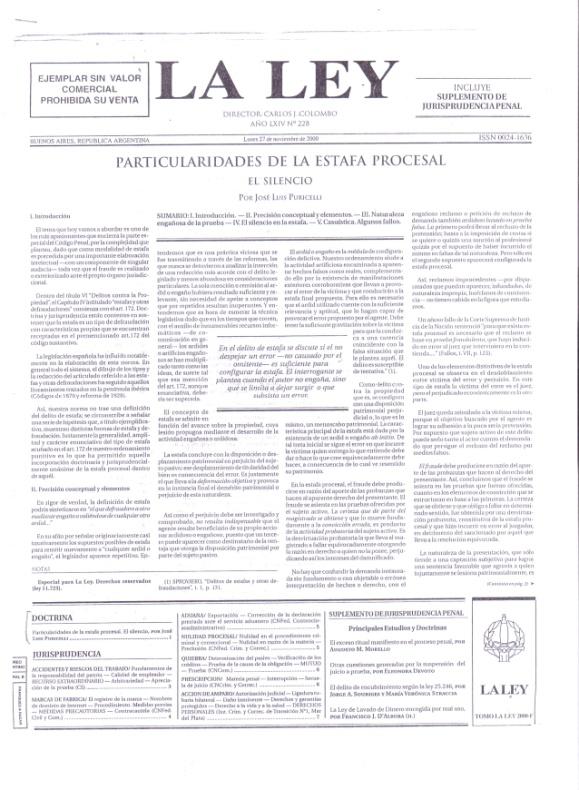 Diario-la-ley-particularidades-de-la-estafa-procesal-jose-luis-puricelli